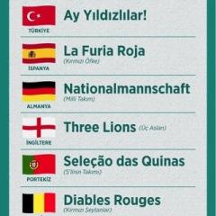 Euro 2016'daki ülkeler ve lakapları