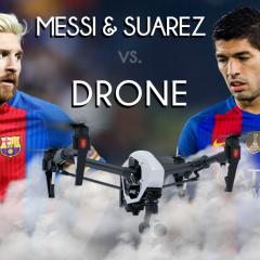 Lionel Messi ve Luis Suarez 'Drone'a karşı