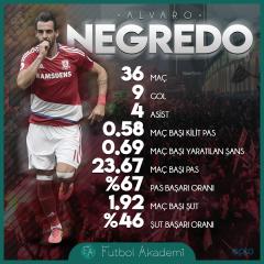 Negredo'nun 16/17 sezonu istatistikleri