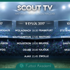 SCOUT TV | Haftanın dikkat çeken maçları – Eylül 2017